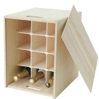 12 Bottle Wooden Wine Box